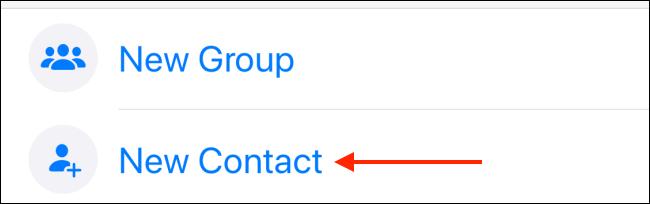 Tippen Sie in WhatsApp auf dem iPhone auf Neuer Kontakt