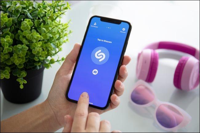 Shazam auf einem iPhone X