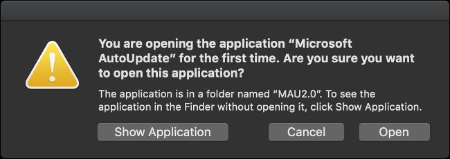 Führen Sie die Microsoft AutoUpdate-App aus