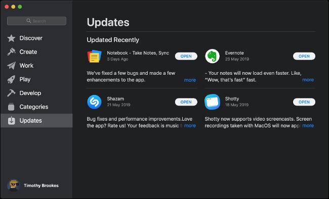 App Store-Software-Updates installieren