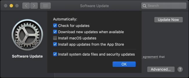 Toggle Automatische macOS-Updates