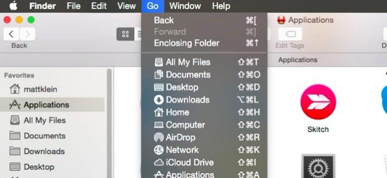 So gehen Sie sofort zu Speicherorten und Ordnern in OS X