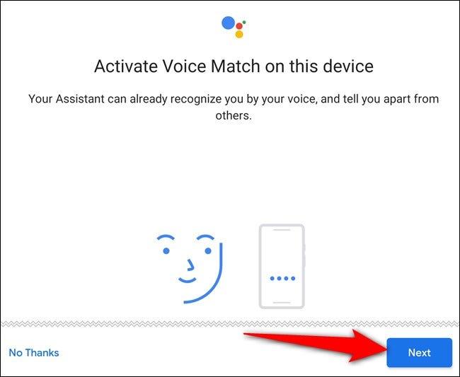 Voice Match aktivieren