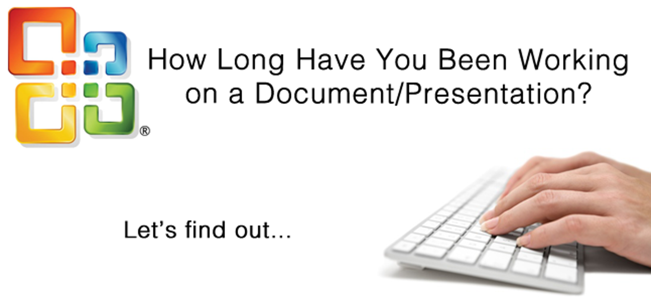 Finden Sie heraus, wie lange Sie an einem Dokument (oder einer Präsentation) gearbeitet haben
