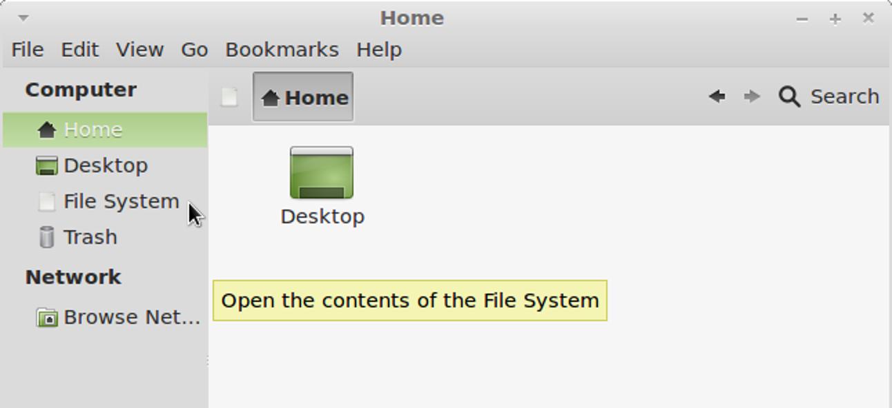 Zugriff auf einen erweiterten Dateimanager in Linux Mint 12