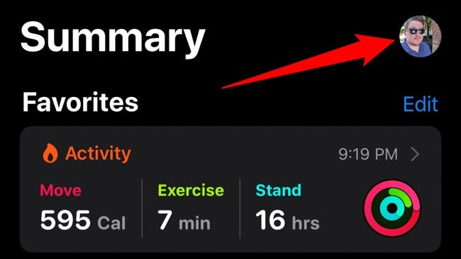 Apple iPhone Health App Avatar auswählen