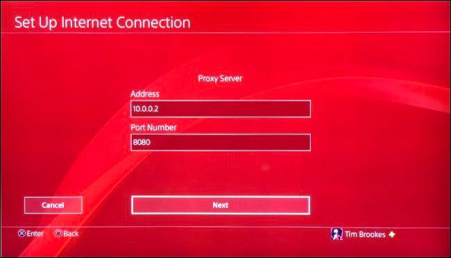 PS4 für die Verwendung mit Proxyserver einrichten