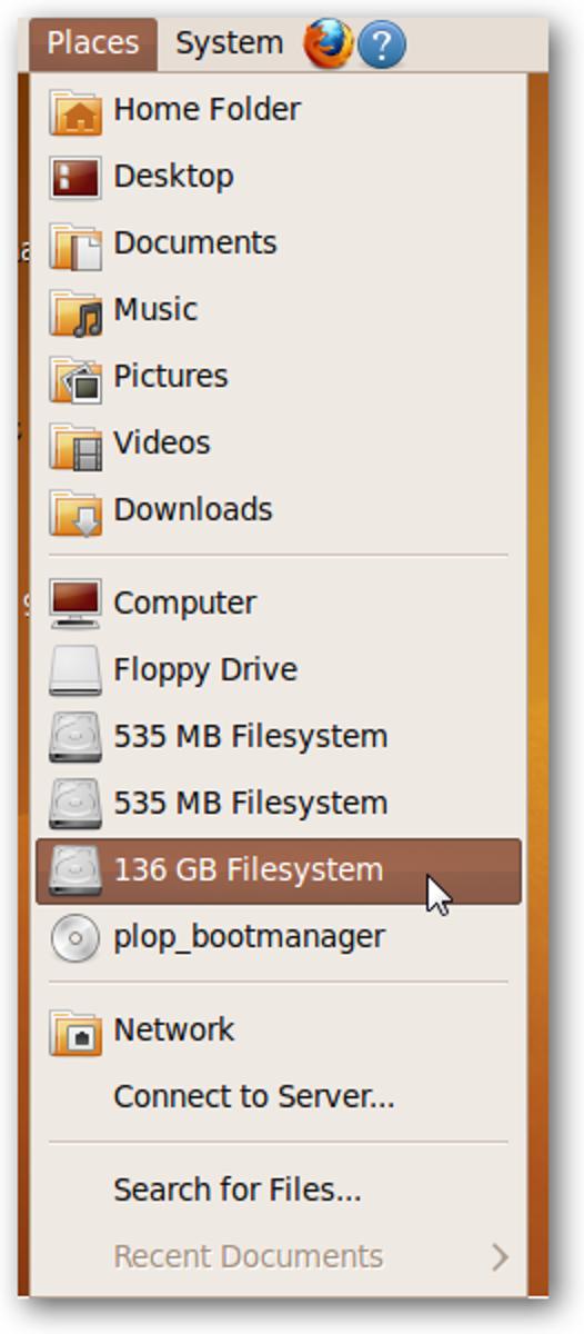 Verschieben Sie Dateien von einem fehlerhaften PC mit einer Ubuntu Live-CD
