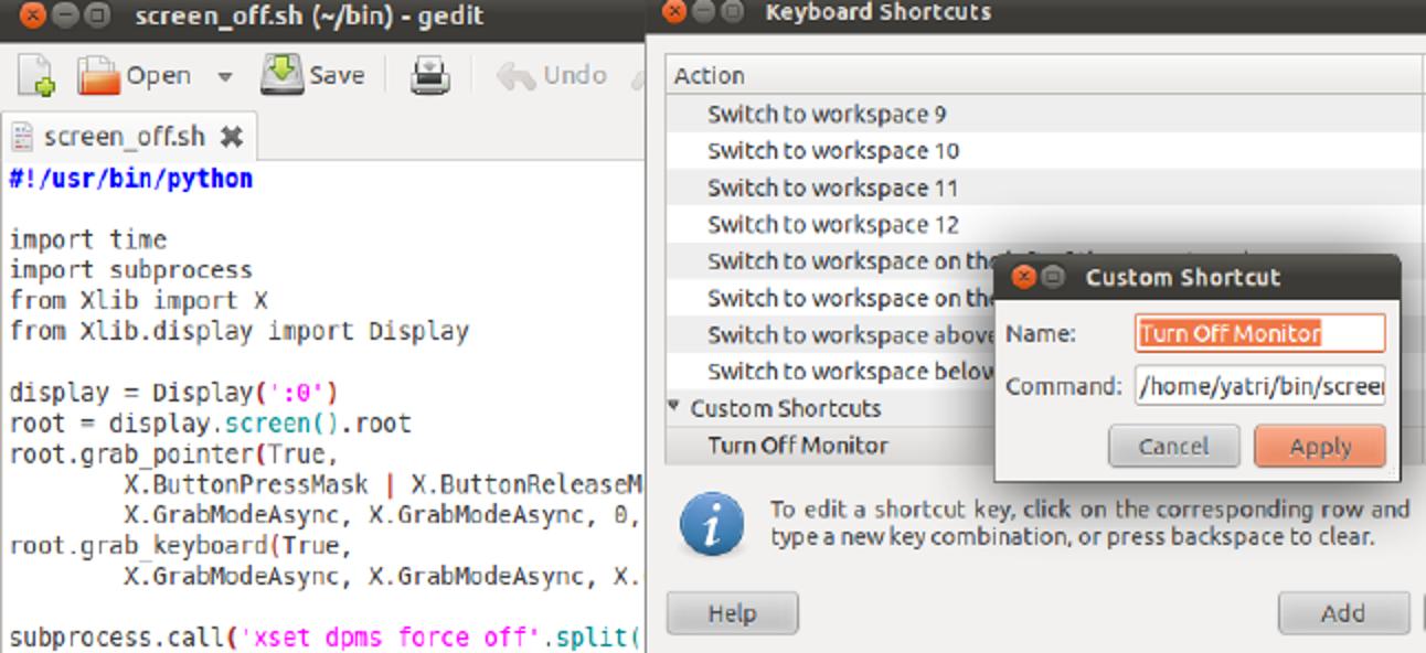So schalten Sie Ihren Monitor mit einem Hotkey in Ubuntu aus