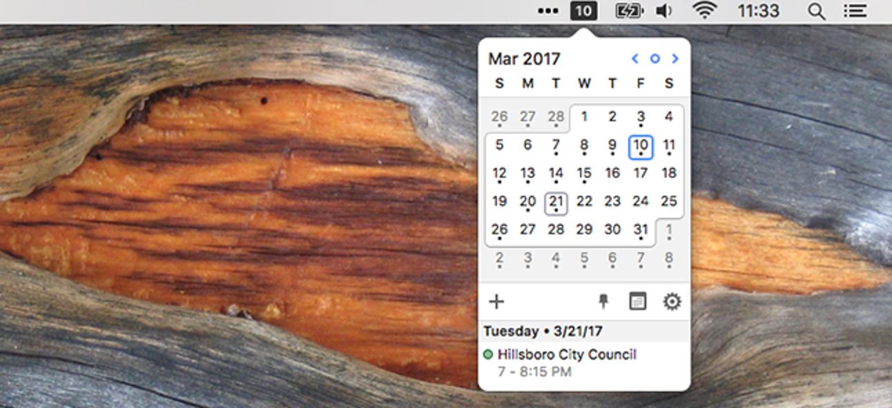 So fügen Sie der macOS-Menüleistenuhr einen Dropdown-Kalender hinzu