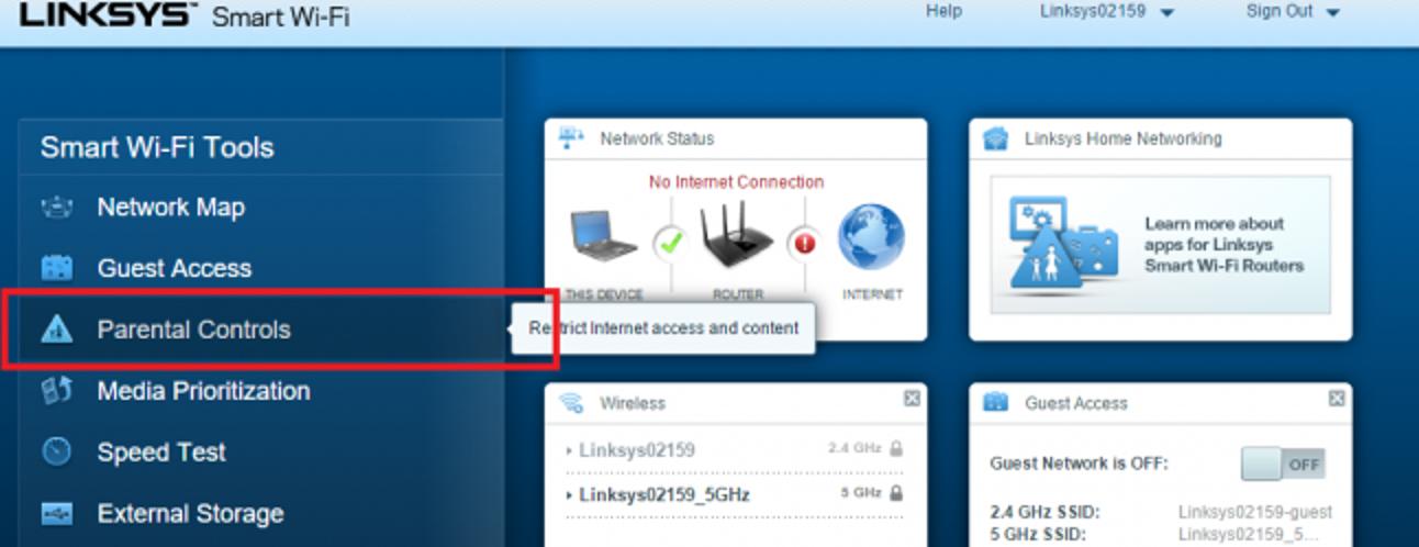 So verwalten Sie die Kindersicherung auf Linksys Smart Wi-Fi