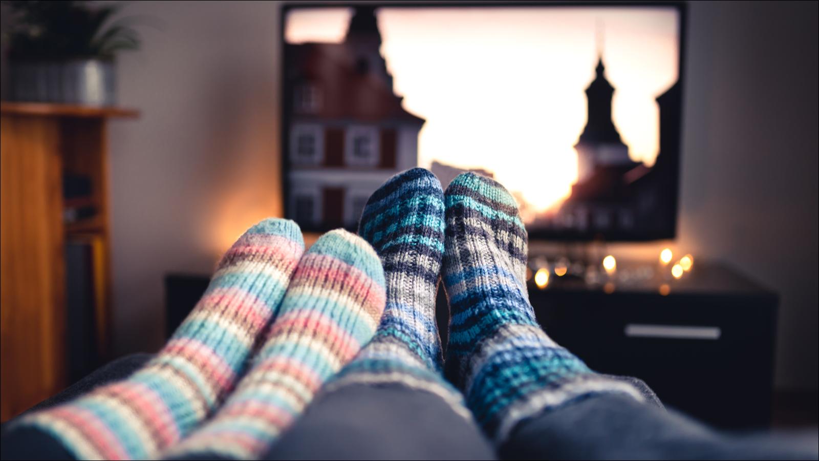 Socken und Fernseher