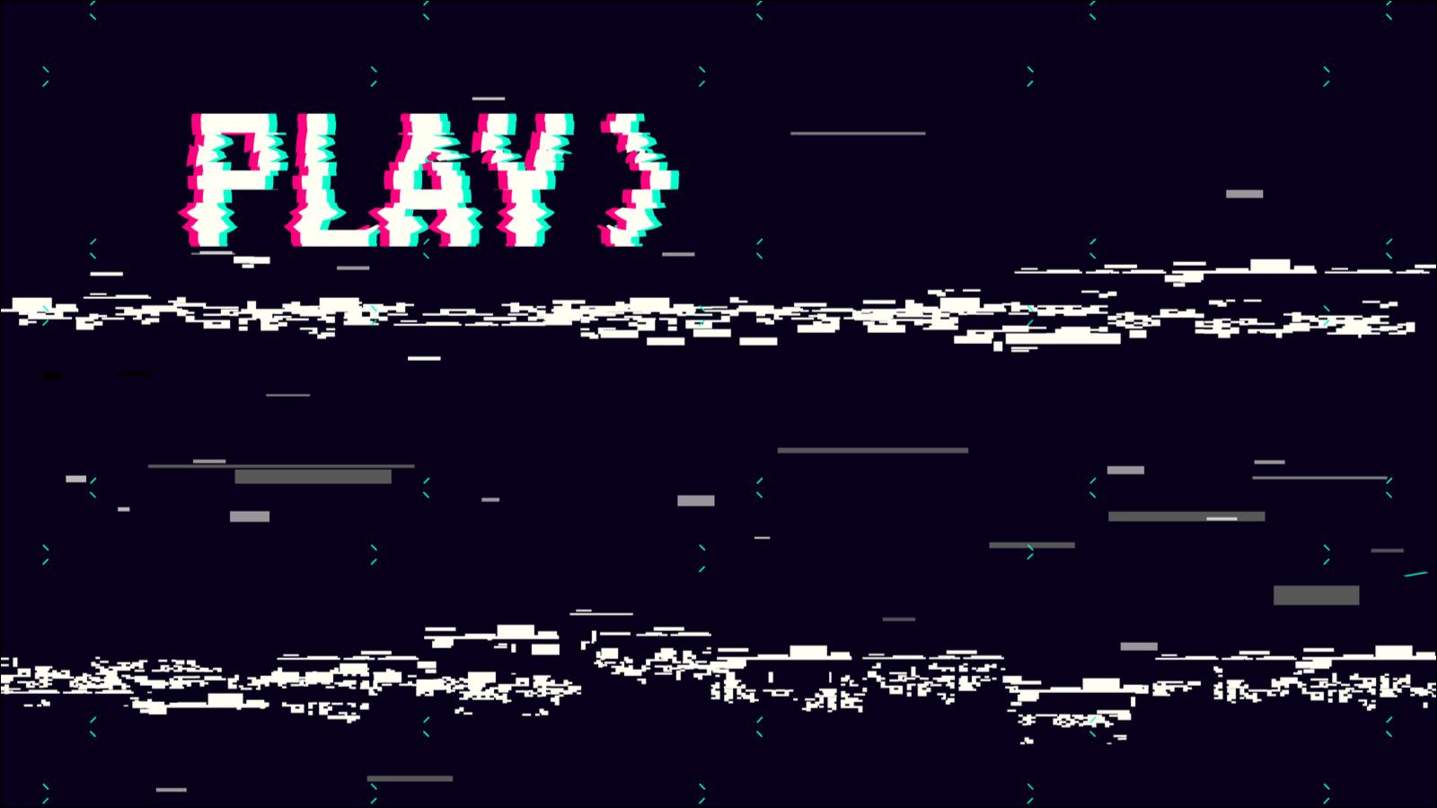 Wiedergabebildschirm im VHS-Stil