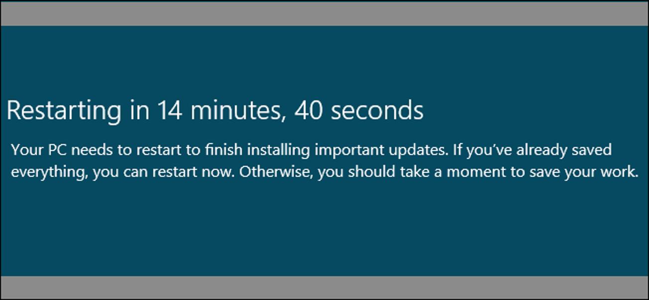 Verhindern, dass Windows Ihren PC nach Windows-Updates neu startet