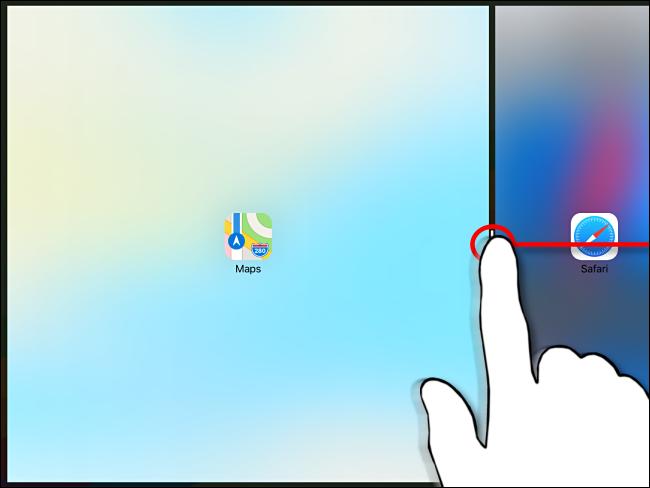 Verwerfen der geteilten Ansicht auf dem iPad Schritt 2