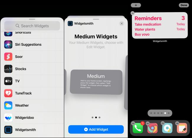 Widgetsmith-Widget hinzufügen