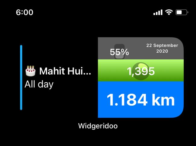 Heute-Widget in Widgeridoo