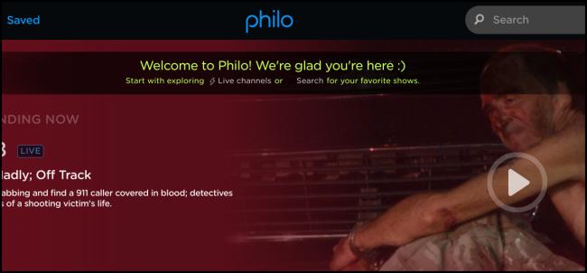 """Die """"Willkommen bei Philo"""" Seite."""