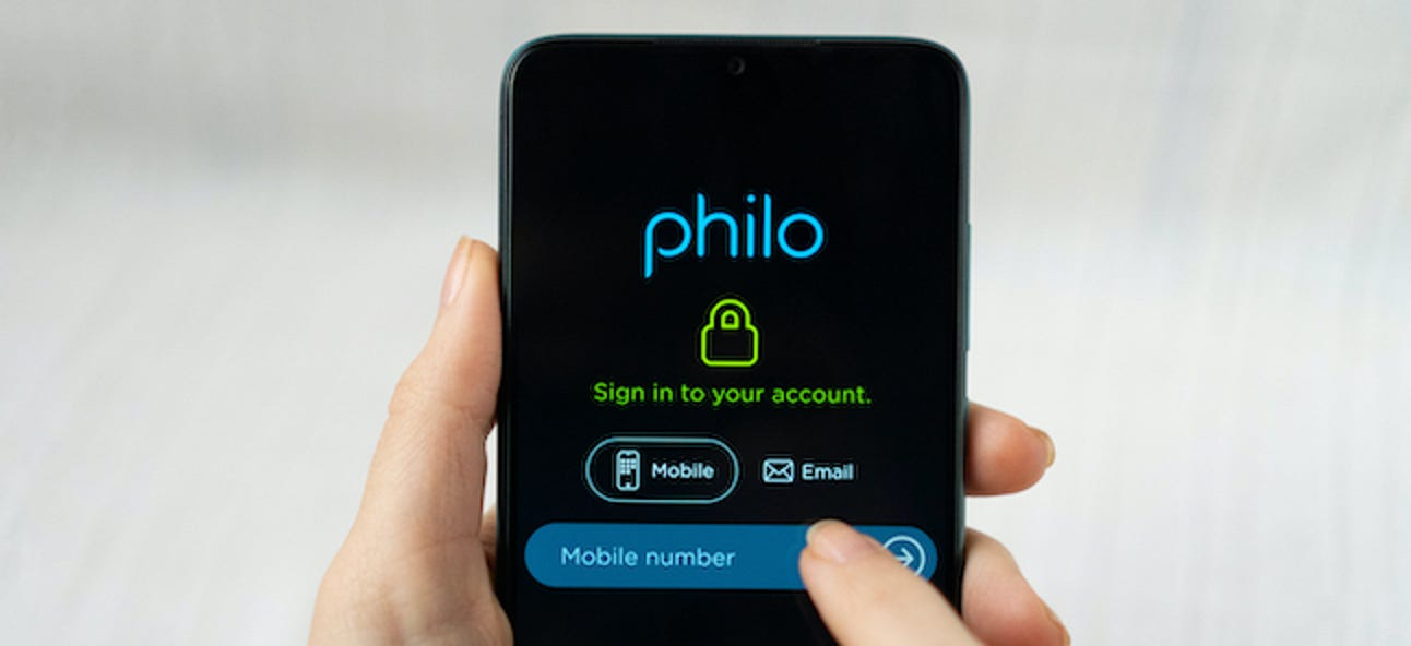 So melden Sie sich für Philos Online-Live-TV-Dienst an