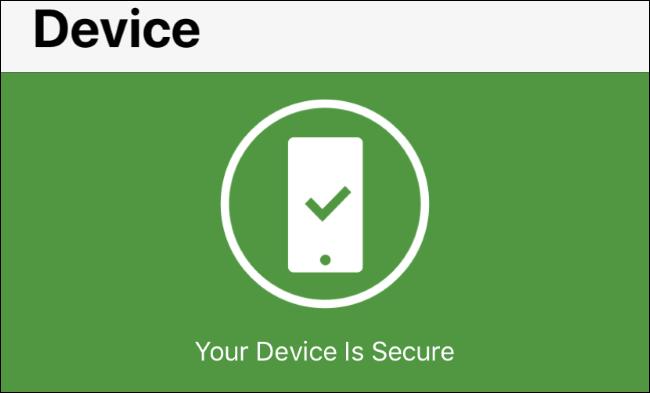 Status der Betriebssystemwarnungen in Norton Mobile Security für iOS