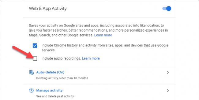 Google Audioaufnahmen