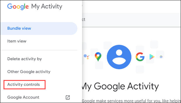 Google-Aktivitätskontrollen