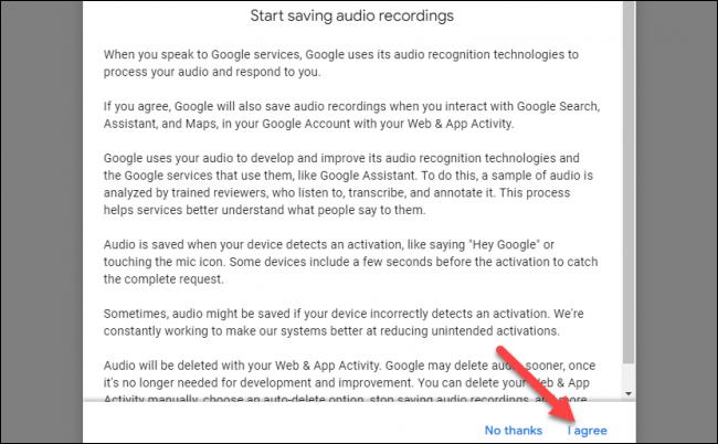 google audioaufnahmen vereinbarung