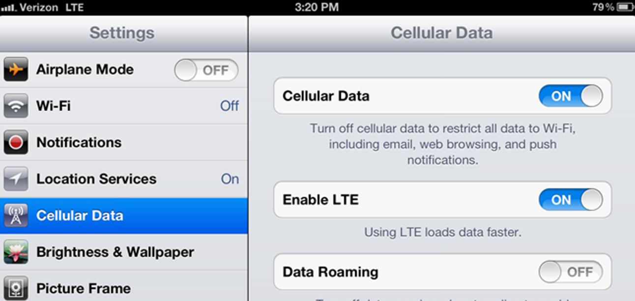 So wechseln Sie auf dem neuen iPad von 4G LTE zu 3G, um die Akkulaufzeit zu sparen