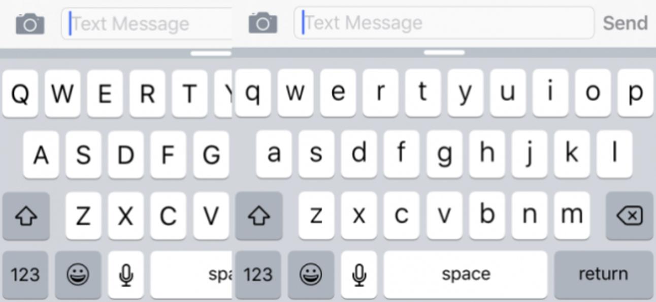 So aktivieren Sie die alte Touch-Tastatur in Großbuchstaben in iOS 9
