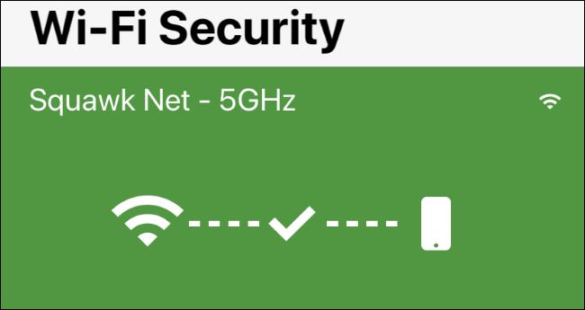 """Bildschirm """"Wi-Fi-Sicherheit"""" in Norton Mobile Security für iPhone"""