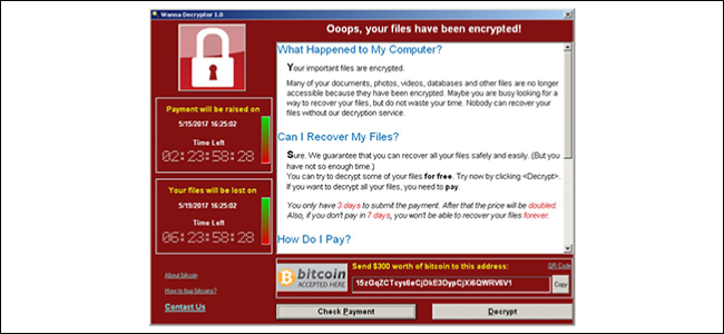 Die Wanna Cry-Ransomware.