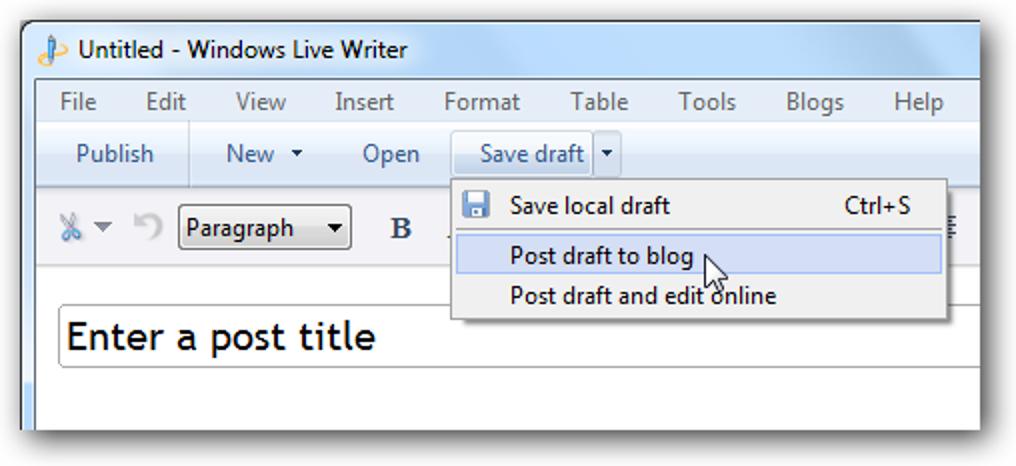 """So fügen Sie eine Schaltfläche """"Entwurf in Blog posten"""" zu Windows Live Writer Beta hinzu"""