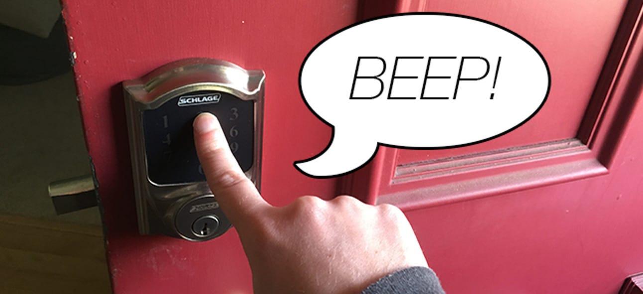 So deaktivieren Sie den Beeper des Schlage Connect Smart Lock