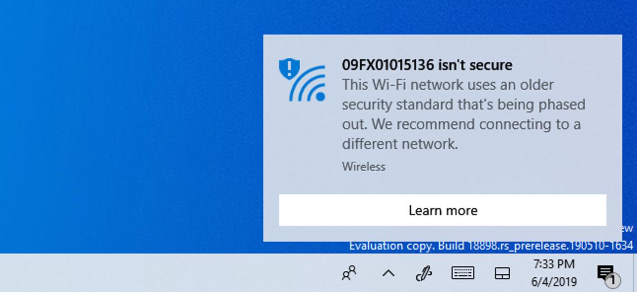 Warum Windows 10 sagt, dass Ihr Wi-Fi-Netzwerk nicht sicher ist