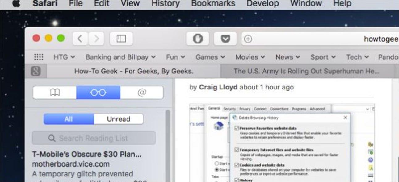 """So verwenden Sie die """"Leseliste"""" von Safari, um Artikel für später zu speichern"""
