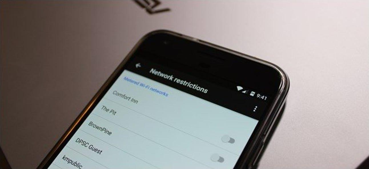 So beschränken Sie Hintergrunddaten für gemessene Wi-Fi-Netzwerke auf Android