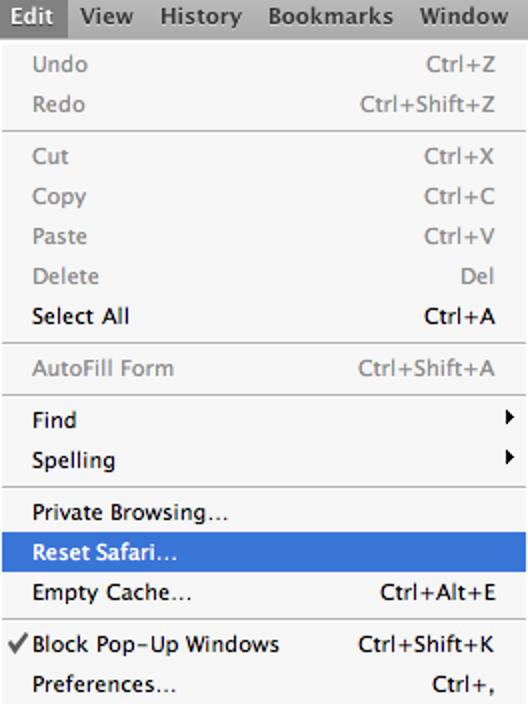 Löschen Sie den gesamten Browserverlauf in Safari