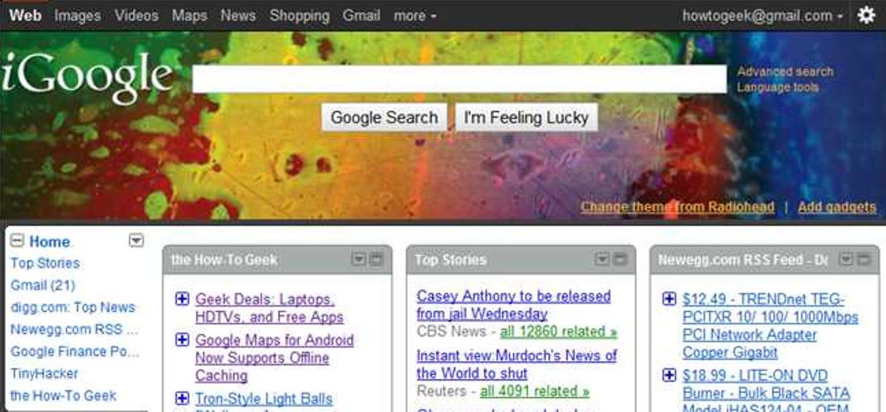So wechseln Sie von iGoogle zurück zur einfachen Google-Startseite