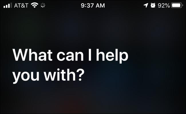 Siri . starten
