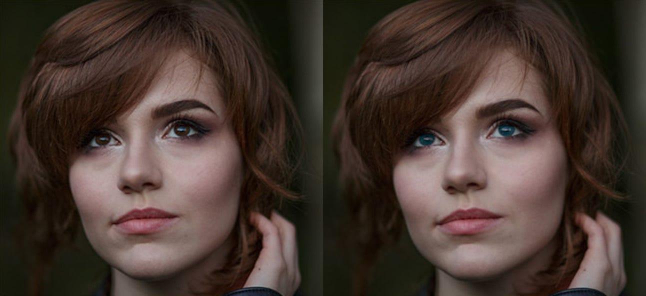 So ändern Sie die Augenfarbe einer Person in Photoshop