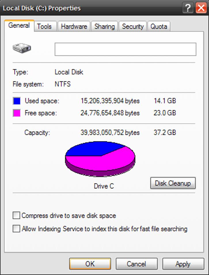 Leistung verbessern Indizierungsdienst XP deaktivieren