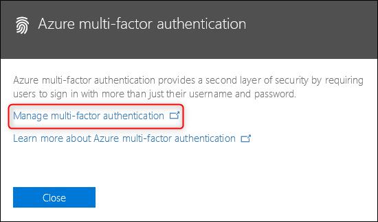 """Die """"Azure Multi-Faktor-Authentifizierung"""" Verknüpfung"""