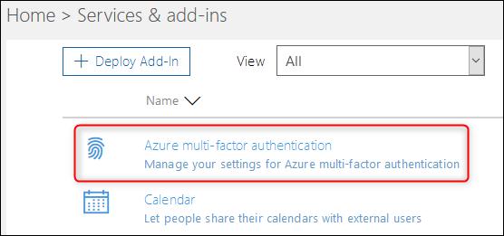 """Die """"Azure Multi-Faktor-Authentifizierung"""" Möglichkeit"""