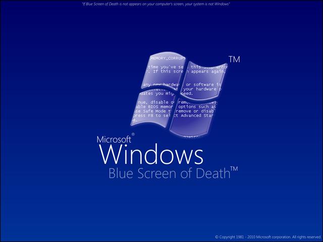 Windows Bluescreen des Todes