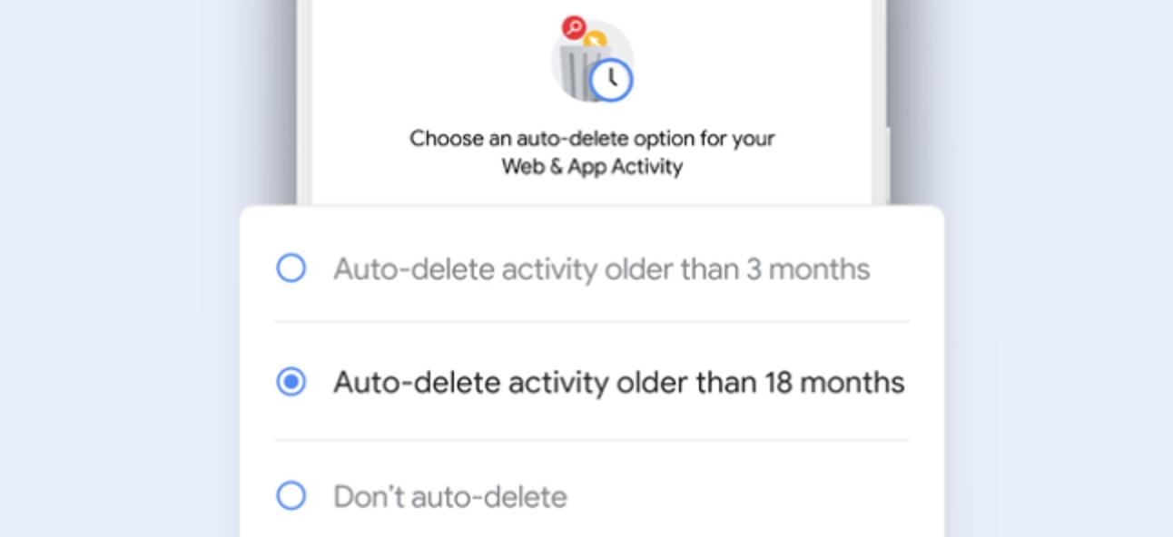 So löscht Google automatisch Ihren Web- und Standortverlauf