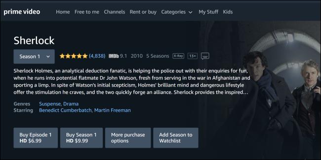 Sherlock Amazon Prime Video