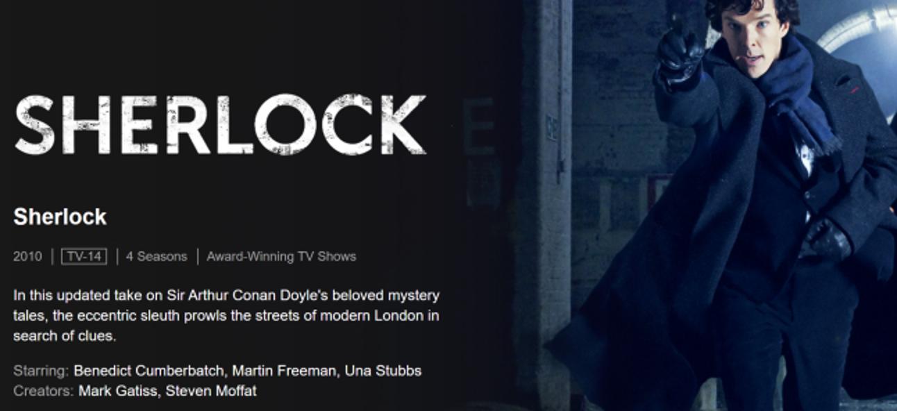 """So streamen Sie BBCs """"Sherlock"""" ohne Kabel"""