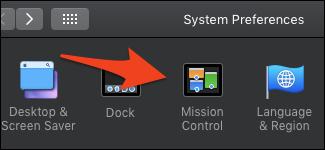 macOS Mission Control-Einstellungen