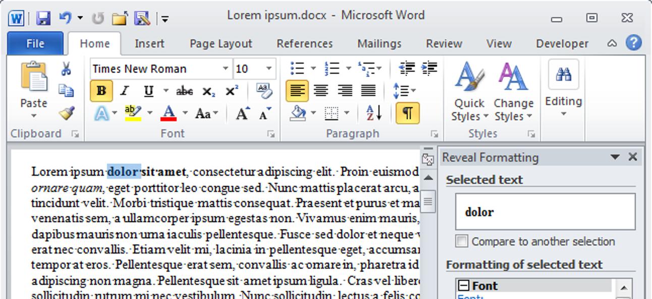 So verwenden Sie die Formatierungsfunktion zum Anzeigen von Word 2010