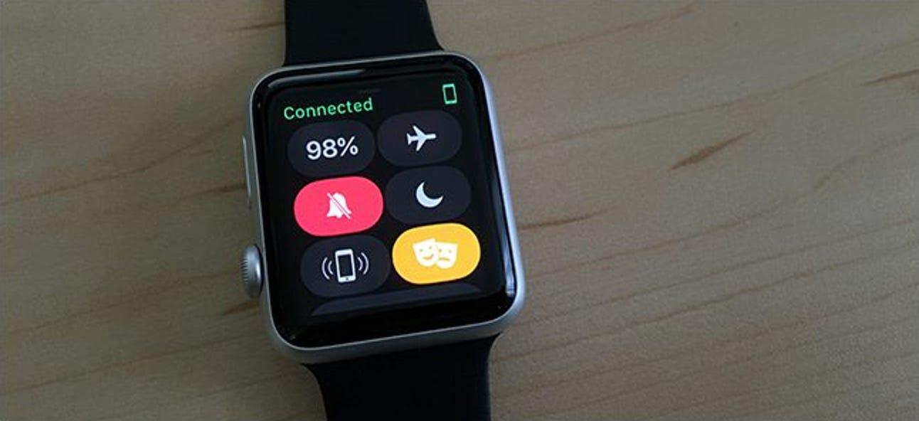 So schalten Sie den Bildschirm Ihrer Apple Watch im Theatermodus aus